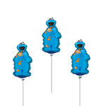 "3 - 14"" Cookie Monster Birthday Balloons"