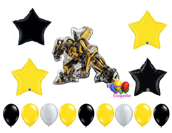 Bumble Bee Transformers Birthday Balloons