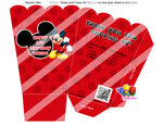 mickey mouse birthday popcorn boxes
