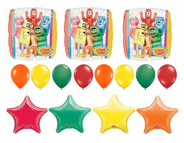 Yo Gabba Gabba Birthday Balloons 15pc
