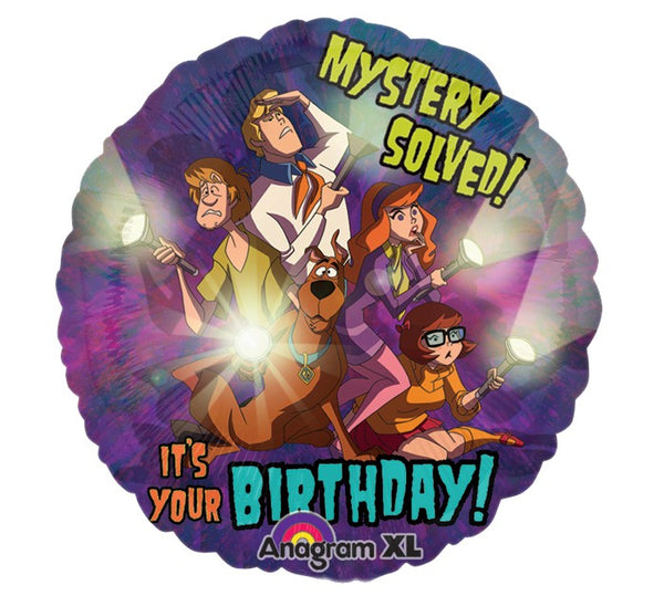 Scooby Doo Mistery Solved Birthday Balloon