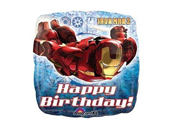 Iron Man Happy Birthday Holographic Balloon