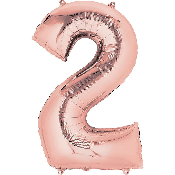 Giant Rose Gold Number 2 Balloon