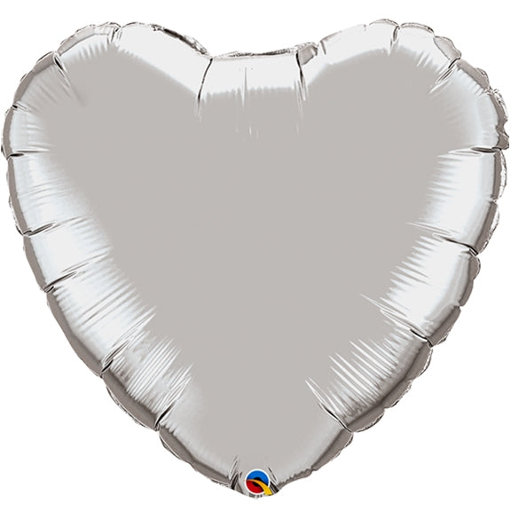 Silver Heart Balloon