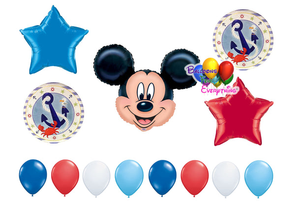 Nautical Mickey Mouse Balloons