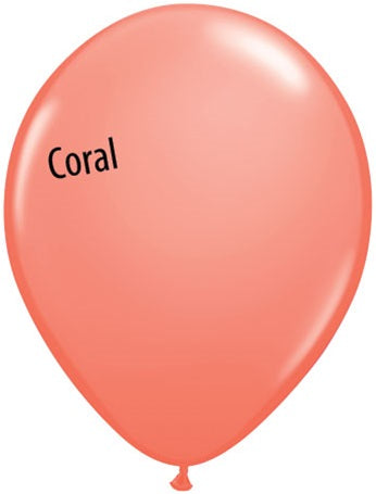 5in Coral Latex Balloons