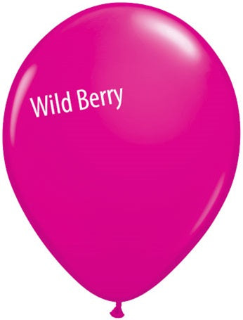 5in Wild Berry Latex Balloons