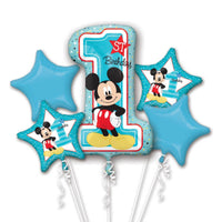 Disney Mickey Mouse 1st Balloon Birthday Bouquet 5pc