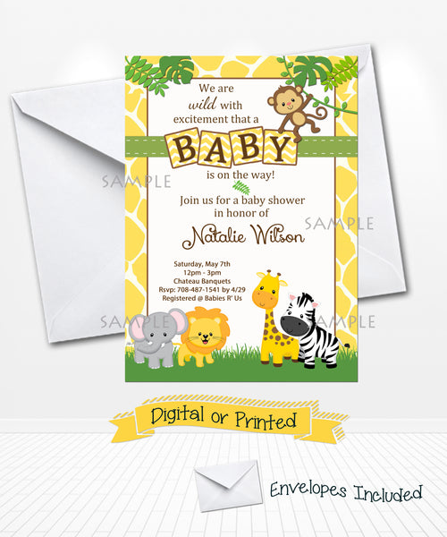 Baby Jungle Baby Shower Invitations