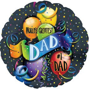 "18"" World's Greatest Dad Foil Balloon"