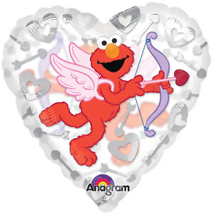 Elmo Heart Shape See Thru Balloon