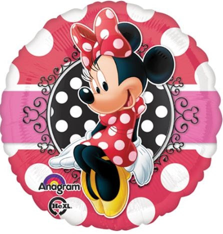 Red Minnie Mouse Balloon