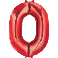 Giant Red Number 0 Balloon