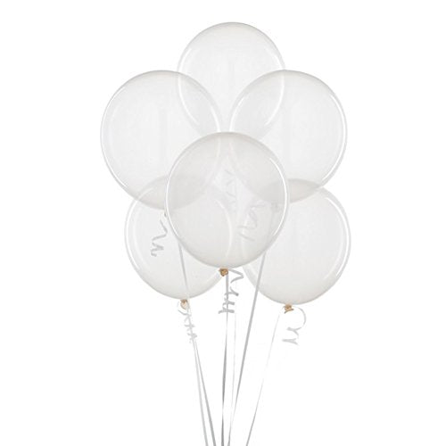 5in Clear Transparent Latex Balloons
