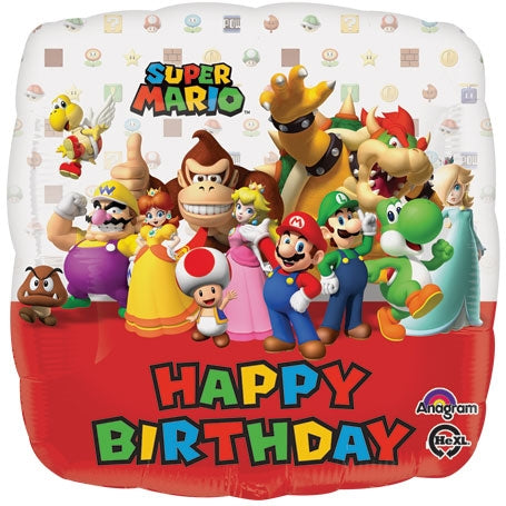 Super Mario Brothers Birthday Balloon