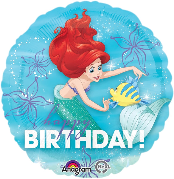 Ariel The Little Mermaid Birthday Balloon