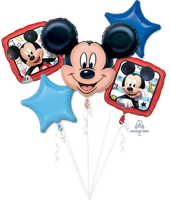 Mickey Mouse Balloon Birthday Bouquet 5pc