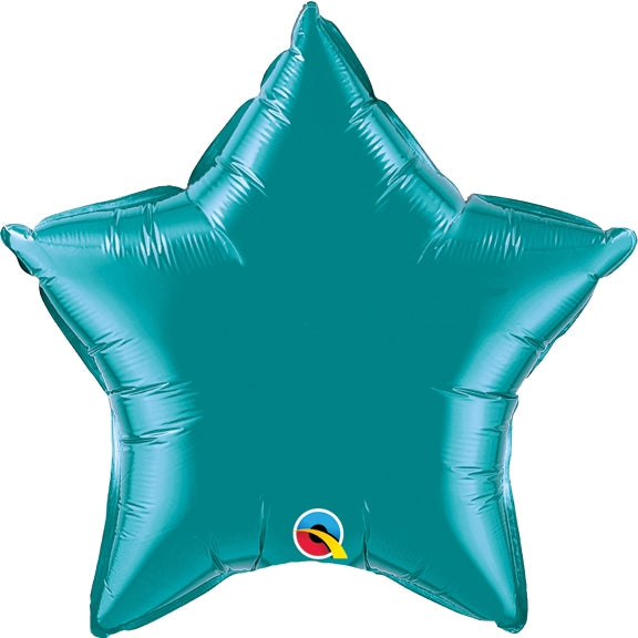 Teal Star Balloon