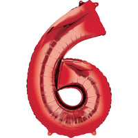 Giant Red Number 6 Balloon