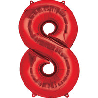 Giant Red Number 8 Balloon