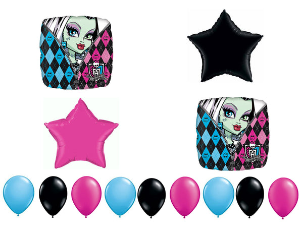 Monster High Birthday Balloons 13pc