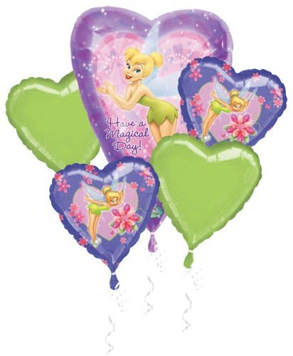 Tinker Bell Birthday Balloon Bouquet