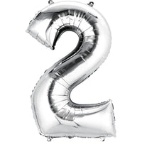 Giant Silver Number 2 Balloon