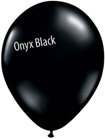 11in Onyx Black Latex Balloons