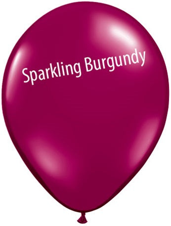 5in Sparkling Burgundy Latex Balloons