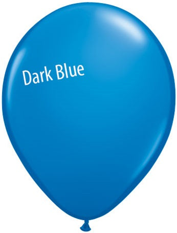 11in Dark Blue Latex Balloons