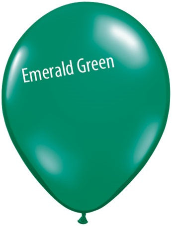 5in Emerald Green Latex Balloons
