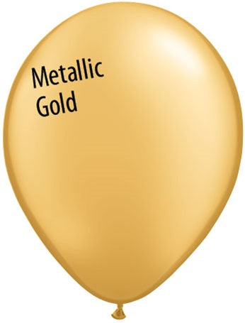 5in Metallic Gold Latex Balloons