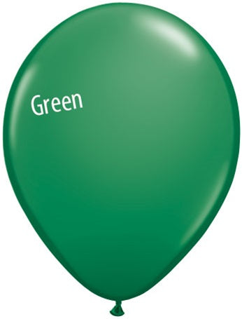 5in Green Latex Balloons