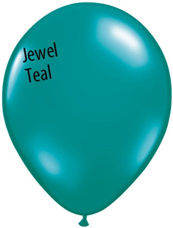 5in Jewel Teal Latex Balloons