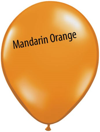 5in Mandarin Orange Latex Balloons