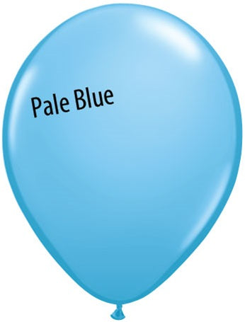 11in Pale Blue Latex Balloons
