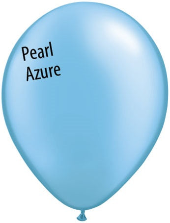 5in Pearl Azure Latex Balloons