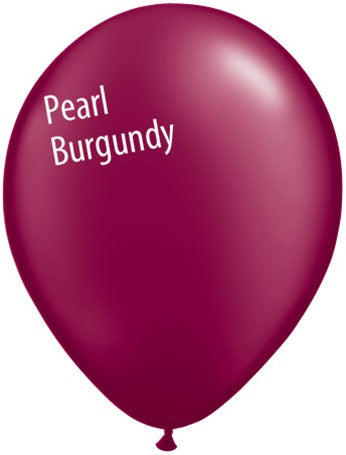5in Pearl Burgundy Latex Balloons