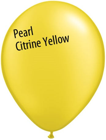 5in Pearl Citrine Yellow Latex Balloons