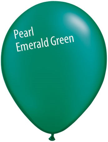 5in Pearl Emerald Green Latex Balloons