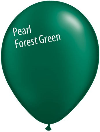 11in Pearl Forest Green Latex Balloons