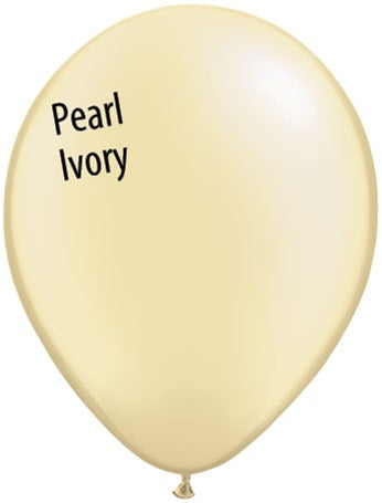 11in Pearl Ivory Silk Latex Balloons