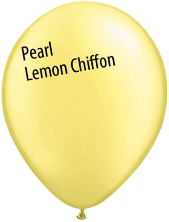 11in Pearl Lemon Chiffon Latex Balloons