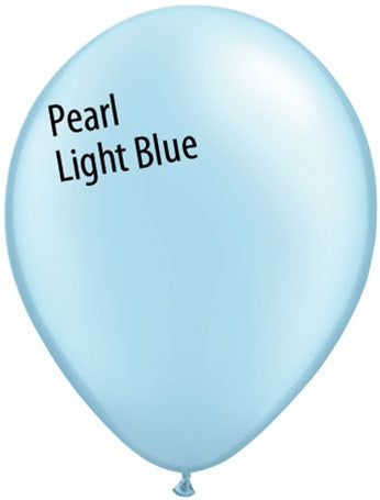 5in Pearl Light Blue Latex Balloons