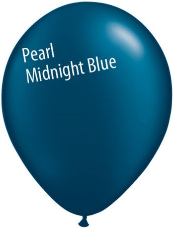 11in Pearl Midnight Blue Latex Balloons