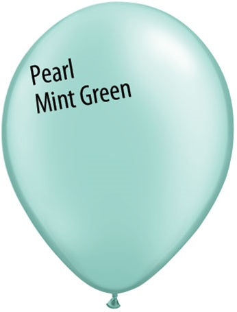 11in Pearl Mint Green Latex Balloons