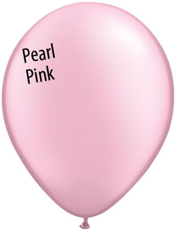 11in Pearl Pink Latex Balloons