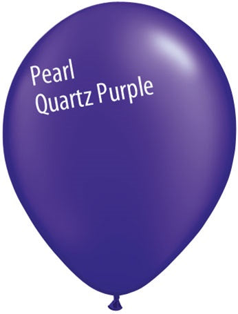 5in Pearl Quartz Purple Latex Balloons