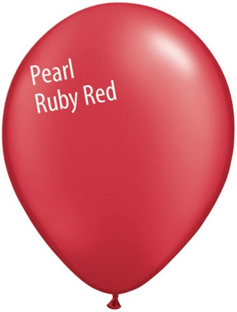5in Pearl Ruby Red Latex Balloons