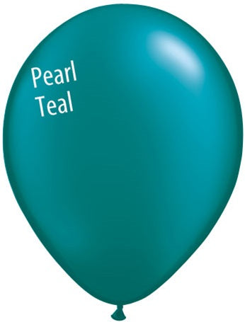 11in Pearl Teal Latex Balloons